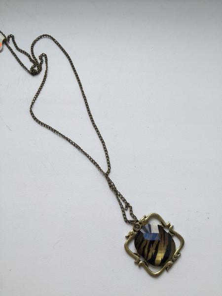 Кулон-камень на цепочке ретро стиль