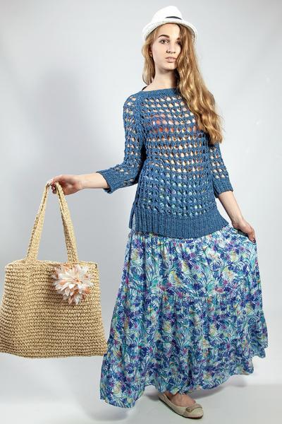 Женская юбка летняя цветная длинная  ONLY
