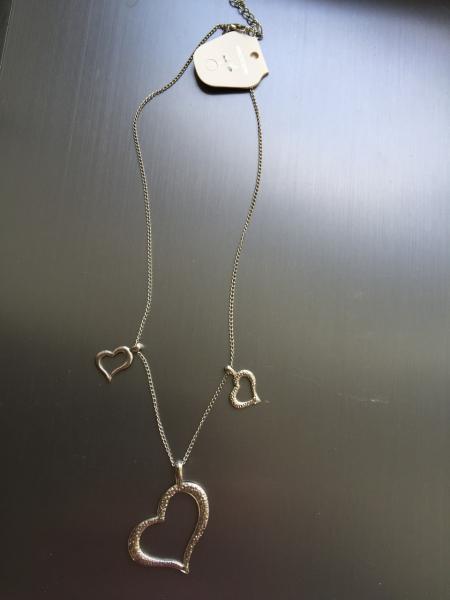 Цепочка с кулончиком сердечки