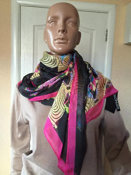 Женский шарф весенний цветной легкий  Lafeny
