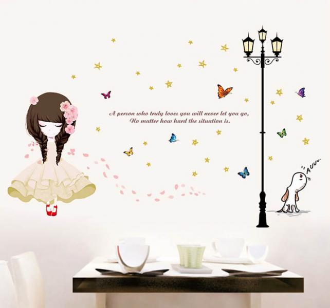 Интерьерная наклейка на стену Flower Girl XL8296