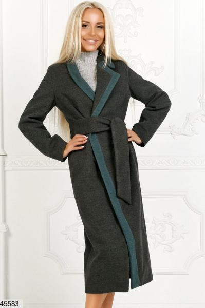 Пальто демисезонное кашемировое на подкладке размеры:42,44,46