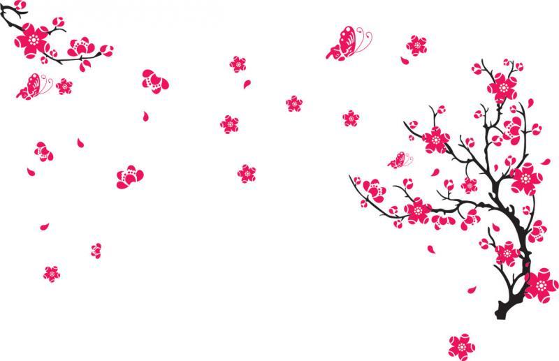 Интерьерная наклейка Сакура AY739