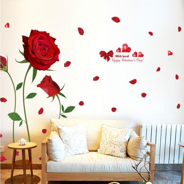 Интерьерная наклейка на стену Розы XL8178