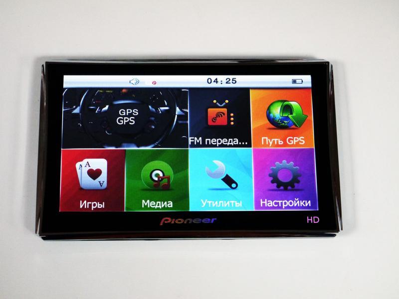 "7"" GPS Навигатор Pioneer HD - 4GB+FM + НОВЫЕ КАРТЫ"