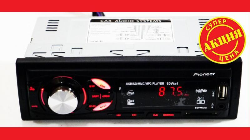 Автомагнитола Pioneer MVH-4007U ISO - MP3 Player, FM, USB, SD, AUX