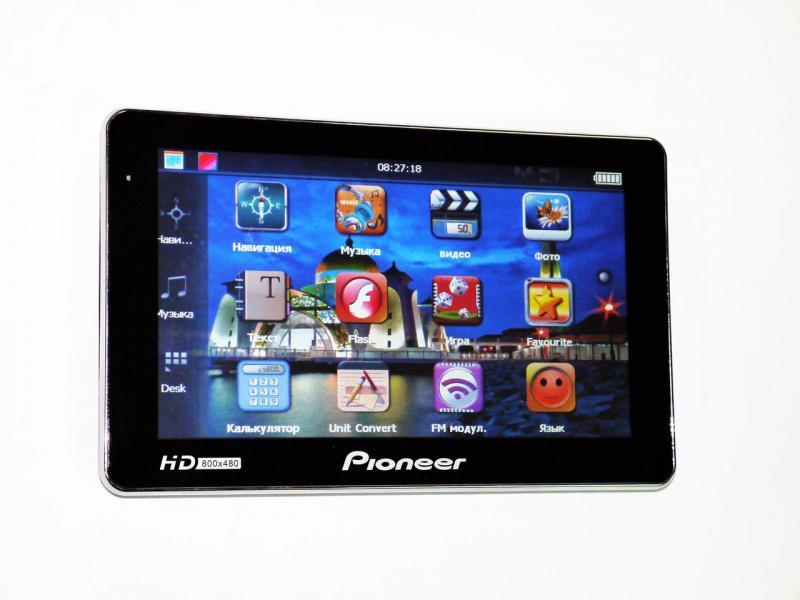 "7"" GPS навигатор Pioneer HD 4Gb + Новые карты"