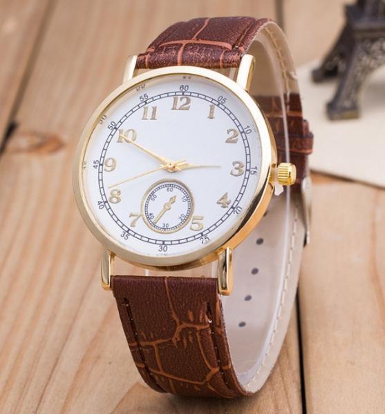 Часы Женева Geneva Питон коричневый ремешок 023-02