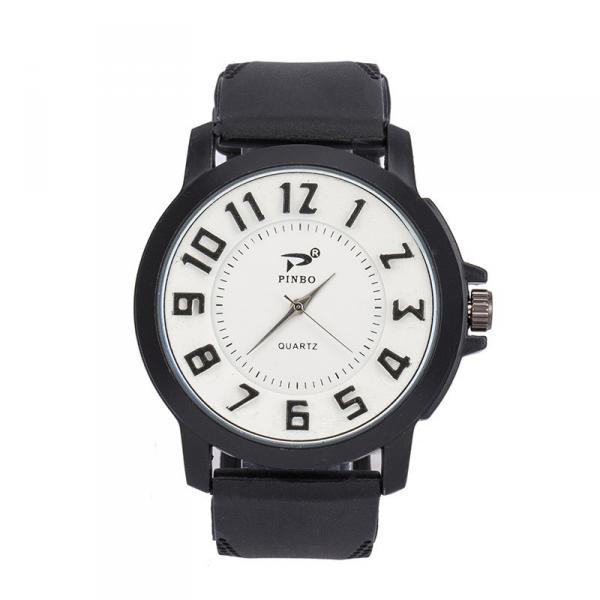Мужские часы Объемные цифры силиконовый ремешок белые mw17-2
