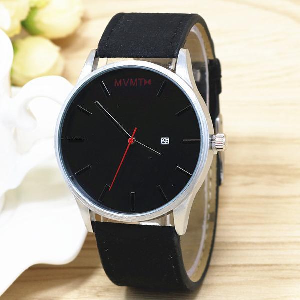 Мужские часы MVMT черные замшевые