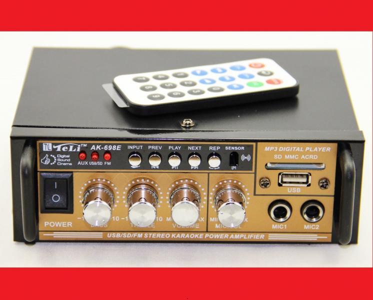 Усилитель звука AK-698E FM USB + Караоке