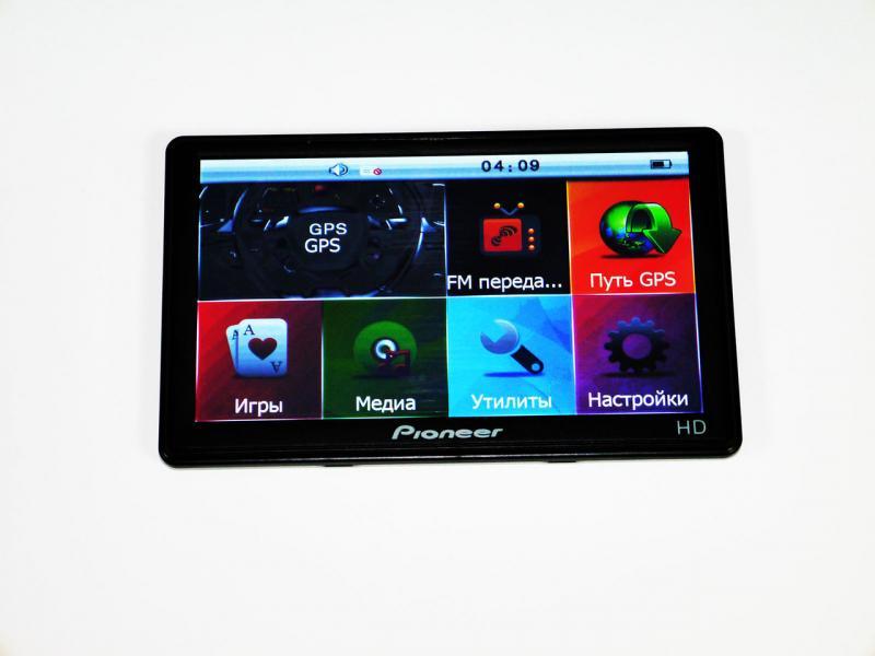 "7"" GPS навигатор Pioneer HD 4Gb + FM + НОВЫЕ КАРТЫ"