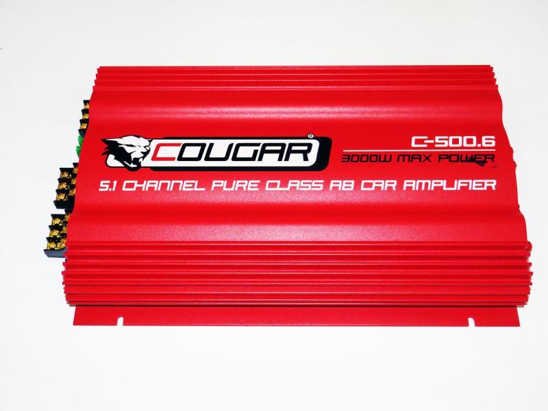 6-и канальный усилитель Cougar 500.6 3000Вт