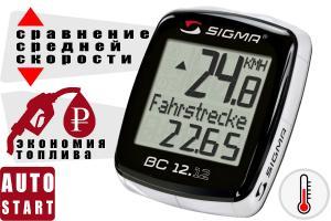 Фото  Велокомпьютер Sigma Sport BC 12.12 чёрный one size