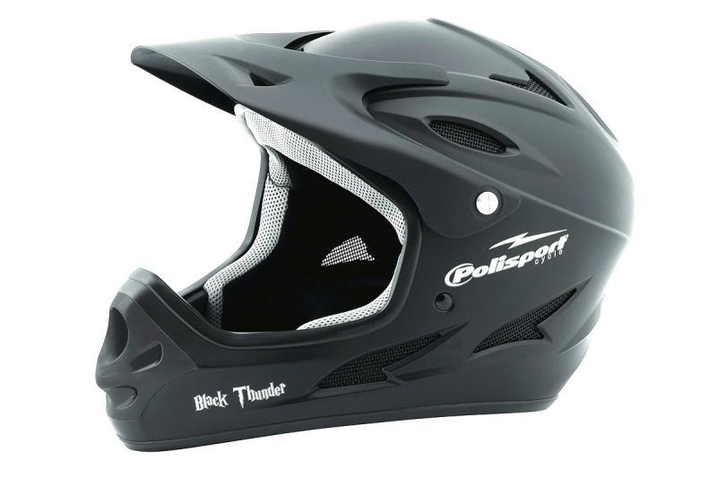 Шлем велосипедный Polisport DOWNHILL чёрный 53-56