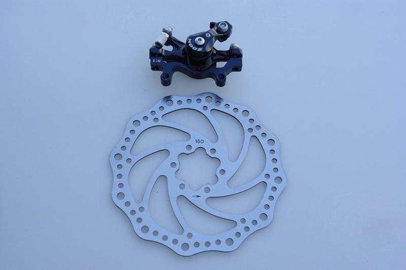 Тормоз дисковый механический задний DB-280R ZOOM DISC D-160B -