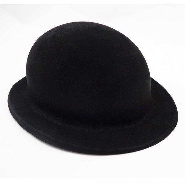Шляпа детская Котелок флок черная