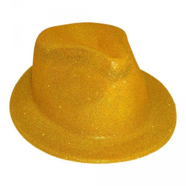 Шляпа детская Мафия блестящая золото