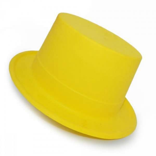 Шляпа Цилиндр с лентой Флок