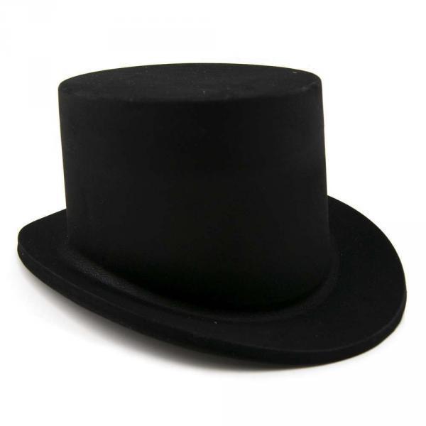 Шляпа детская Цилиндр Флок черная
