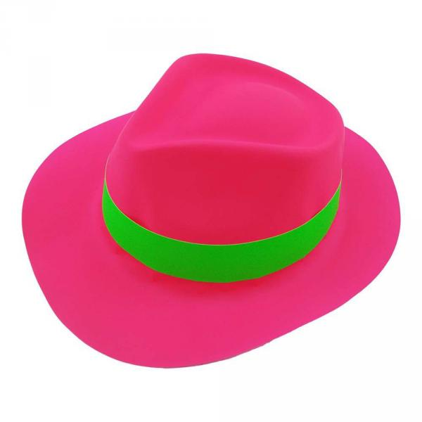 Шляпа Мужская пластик с лентой малиновая