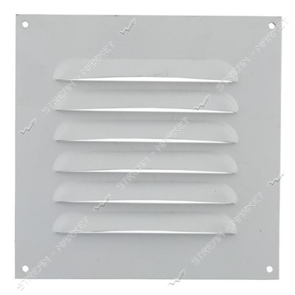 Решетка вентиляционная металическая 205х205 Белая