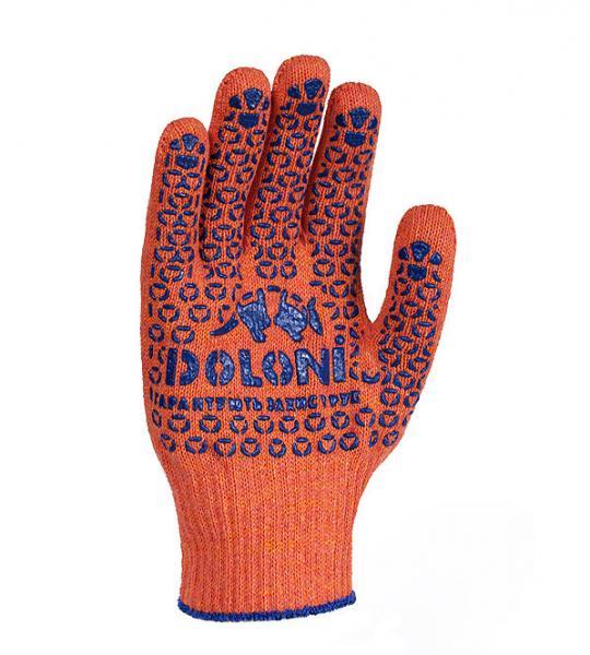 Перчатки рабочие DOLONI с ПВХ точкой 526