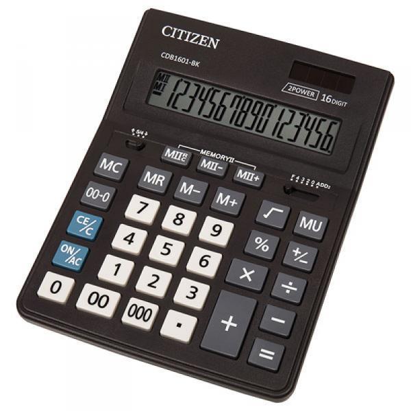 Фото Калькуляторы, носители информации (ЦЕНЫ БЕЗ НДС) Калькулятор настольный 16р. CDB-1601 BK (16-ти разрядный)