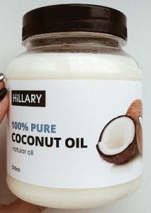 Фото Красота и здоровье, Уход за лицом и телом Кокосовое масло рафинированное Hillary Premium Quality Coconut Oil 500мл