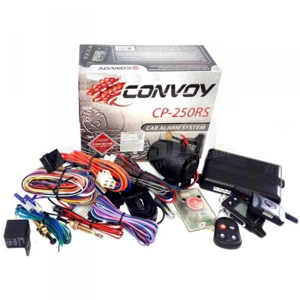 Автосигнализация с автозапуском CP-250RS LCD, CONVOY