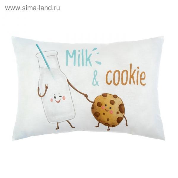 """Подушка """"Крошка Я"""" Milk&Cookie, 30х47 см, 100% хлопок, синтепон"""