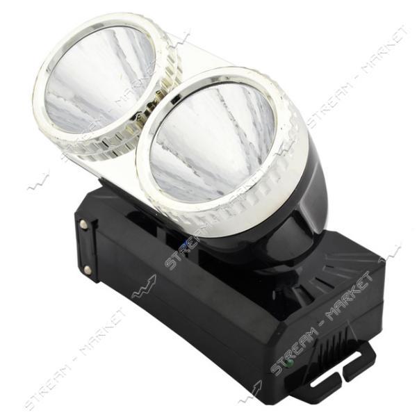 Фонарь на лоб светодиодный YJ-1838 2 LED аккумуляторный