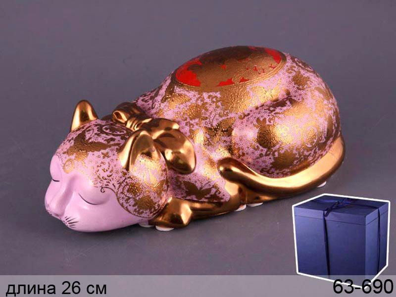 "Фигурка декоративая кот ""приношу удачу"" 26х10 см, Lefard, 63-690"