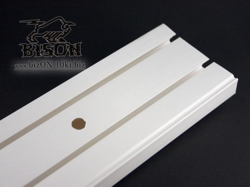 Фото Карнизы Пластиковые Потолочные «ОМ 2»  Карниз потолочный двухрядный,   длина = 3,5 м