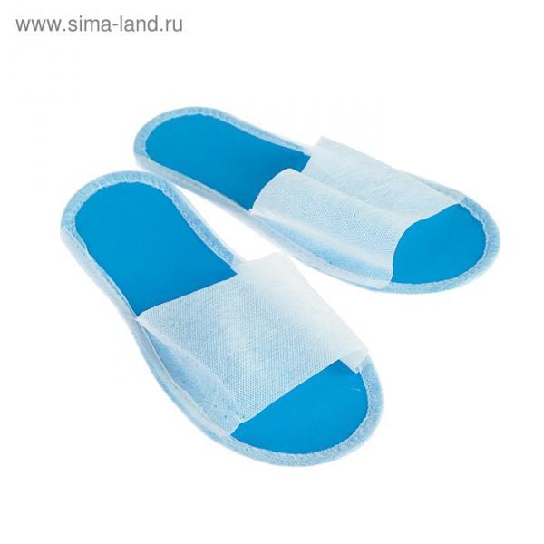 """Тапочки на подошве """"Эва"""", синяя подошва, 3 мм, 43 р-р"""
