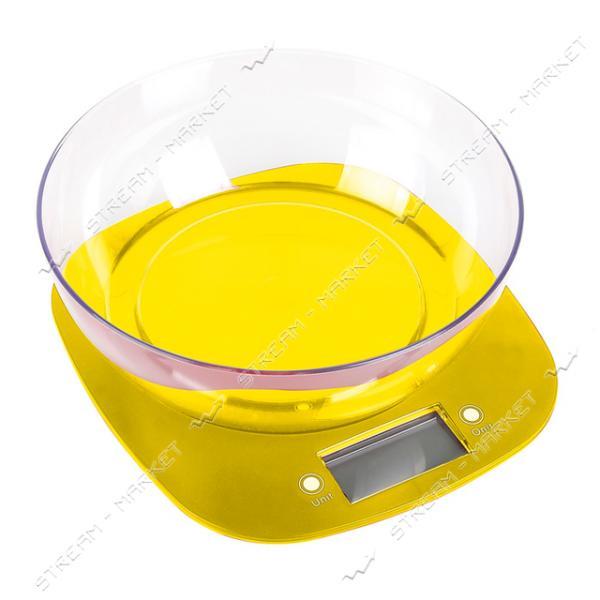 Весы кухонные Magio MG-290 желтые 3кг