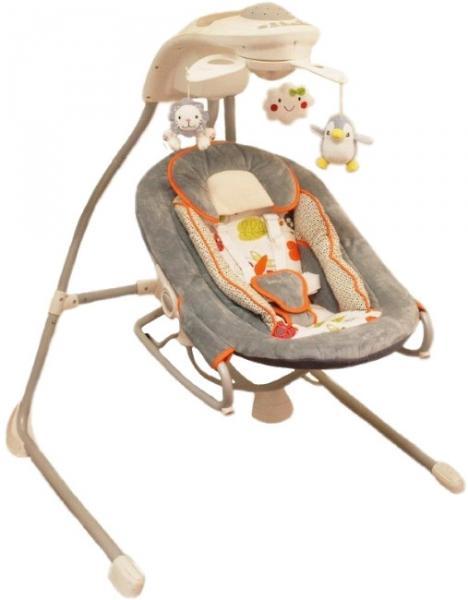 Детское кресло-качалка Baby Mix by028/мобиль Grey