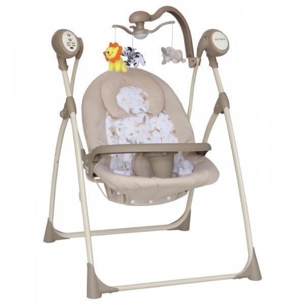 Детское кресло-качалка Baby Mix SW102RC + мобиль и пульт Beige