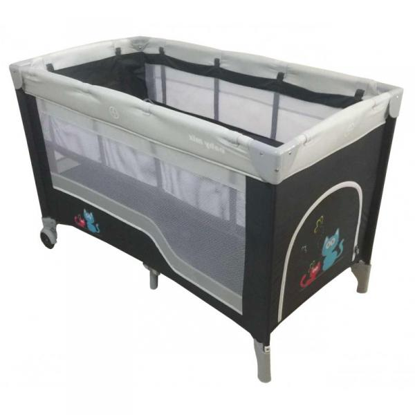 Детский универсальный манеж-кровать Baby Mix HR-8052-2 Dark Grey