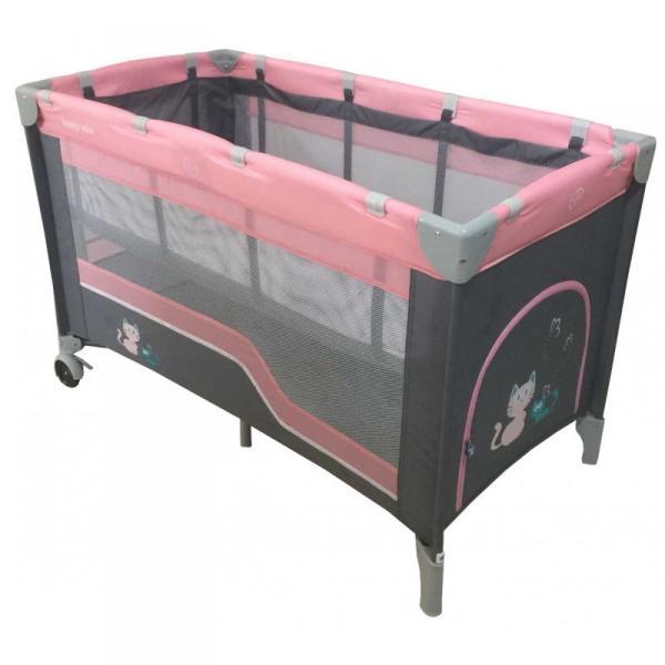 Детский универсальный манеж-кровать Baby Mix HR-8052-2 Pink