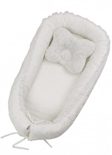 Детский кокон-гнездо Twins Ажур White