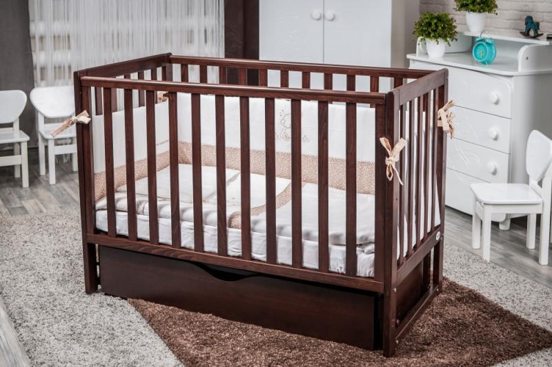 Детская кровать Twins Pinocchio шуфляда орех