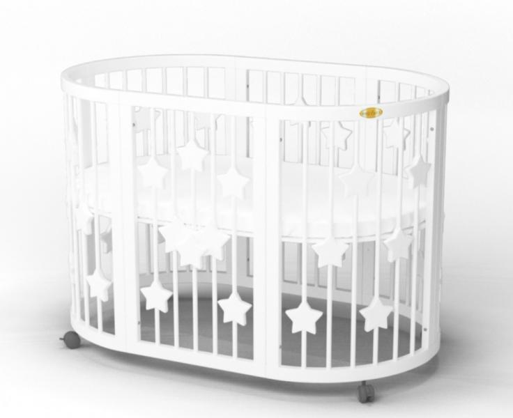 Детская кровать IngVart Smartbed Round Звезды Слоновая кость