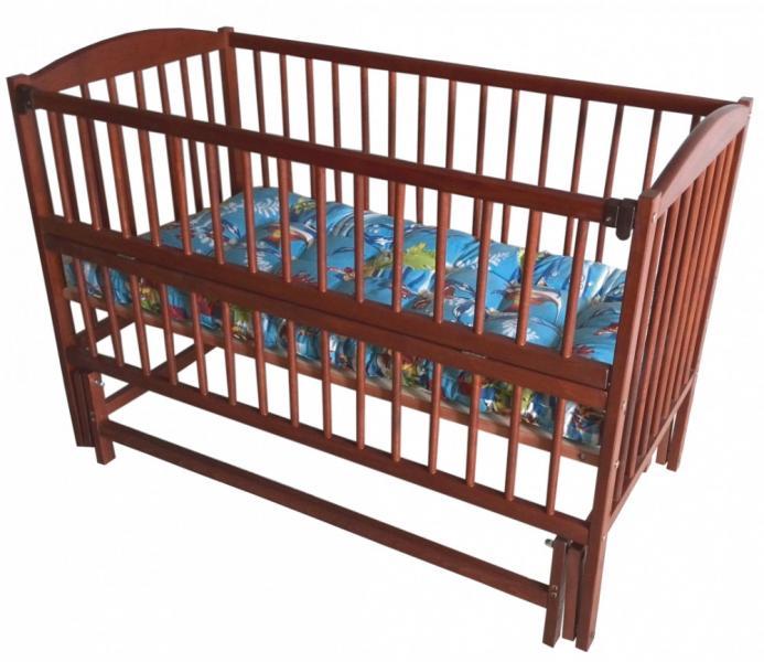 Детская кровать Веселка шарнир/подшипник откидной бортик орех