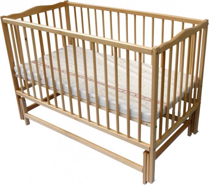 Детская кровать Веселка шарнир/подшипник откидной бортик натуральный