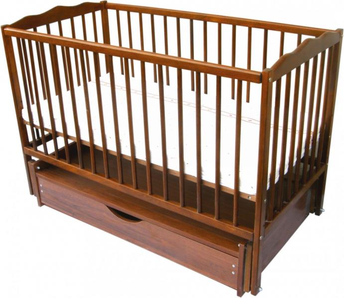Детская кровать Веселка шарнир/ящик подшипник откидной бортик тик