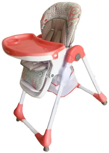 Детский универсальный стульчик для кормления Baby Mix Junior YQ188 - 1 Pink