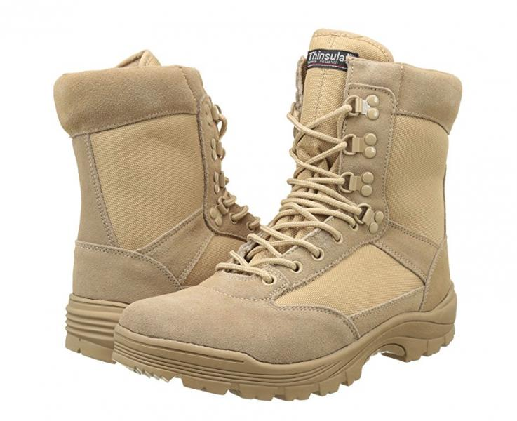 Тактические ботинки (берцы) MIL-TEC TACTICAL BOOT ZIPPER YKK Khaki (12822104)