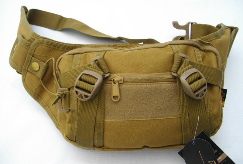 Тактическая поясная сумка с отделением под пистолет Койот