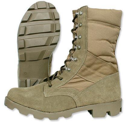 Тактические ботинки (берцы) MIL-TEC - US Panama Military Boots - Coyote Brown 12825005